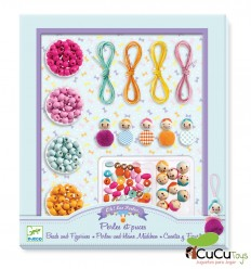 Djeco - Beads and figurines, skewer set