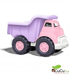 Greentoys - Camión volquete Rosa, juguete ecológico