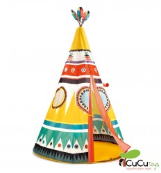 Djeco - Multicoloured fabric hut