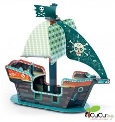 Djeco - Pop to Play Barco Pirata 3D
