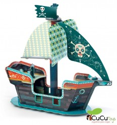Djeco - Pop to Play Pirate Ship 3D