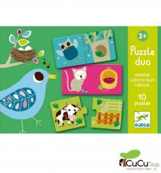 Djeco - Puzzle dúo hábitat