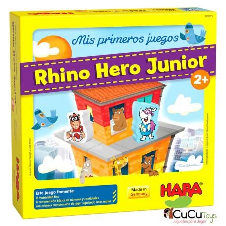 HABA - Mis primeros juegos, Rhino Hero Junior