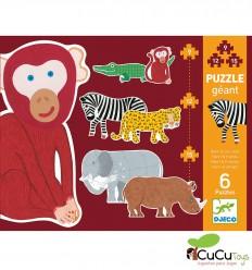 Djeco - Henri and friends, progressive puzzle 9-12-15 pieces