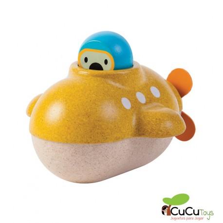 PlanToys - Submarino, juguete de baño