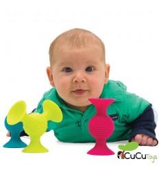 FatBrainToys - Formas con ventosa Pipsquigz, juguete educativo