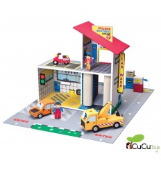 Krooom - Garaje De Juguete, juguete de cartón reciclado
