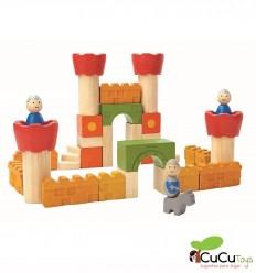 Plantoys - Castillo de bloques de madera, juguete ecológico