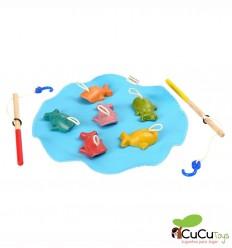Plantoys - Juego de pesca, juguete de madera