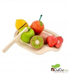 Plantoys - Surtido de frutas para cocinitas, juguete de madera