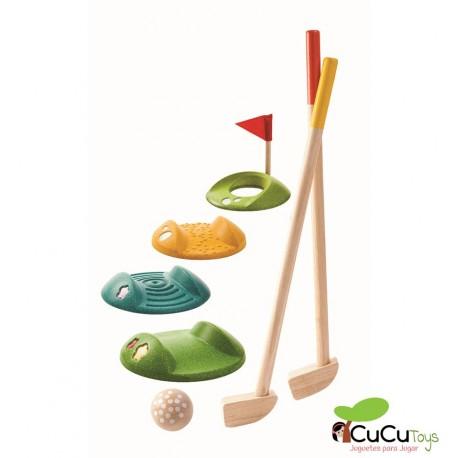 Plantoys - Mini Golf de madera, juguete ecológico
