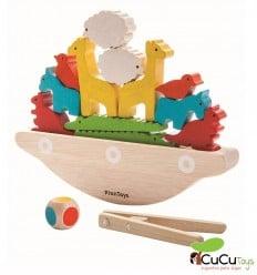 Plantoys - Barco balancín, juguete de madera