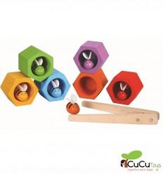 Plantoys - Colmena de abejas de madera, juguete educativo
