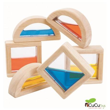 Plantoys - bloques de agua, juguete de madera
