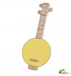 PlanToys - Banjolele, juguete de madera con sonido