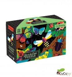 MudPuppy - Insectos increíbles, puzzle de 100 piezas que brilla en la oscuridad