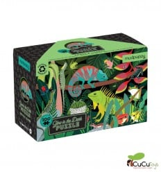 Tiger Tribe - Frogs & Lizards, 100 pz Glow in the dark Puzzle