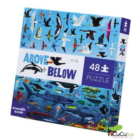 Crocodile Creek - Arriba y abajo - Mar y Cielo, puzzle de suelo de 48 piezas