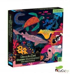 MudPuppy - Océano, puzzle de 500 peças Glow in the Dark
