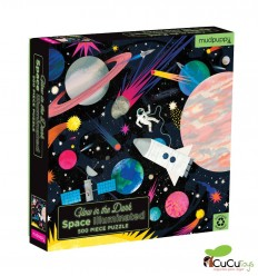 Tiger Tribe - Space, 500 pz Glow in the dark Puzzle