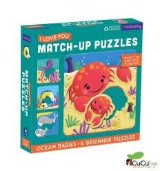 MudPuppy - Match Up 2pç 6 Puzzles, Ocean Babies