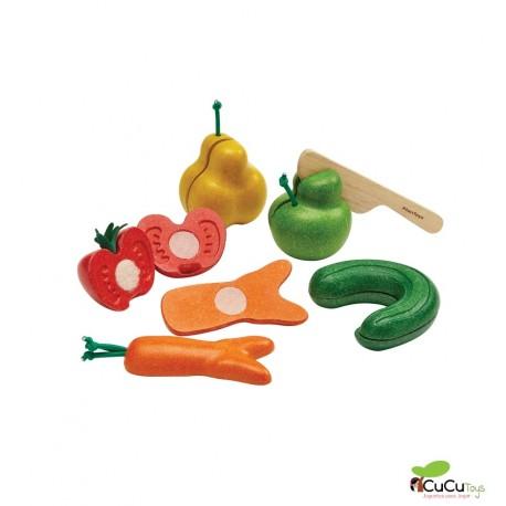 Plantoys - Frutas y verduras imperfectas, juguete de madera