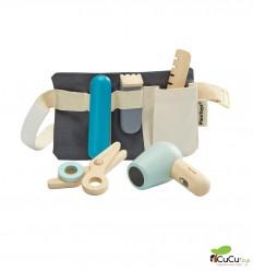 Plantoys - Set de Peluquería, juguete de madera