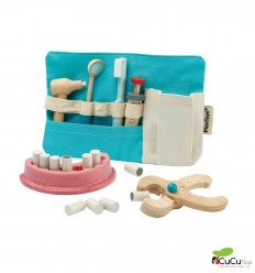 Plantoys - Set de dentista, juguete de madera