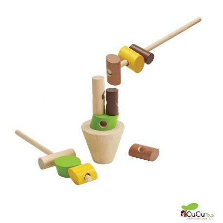 Plantoys - Apila los troncos, juguete de habilidad