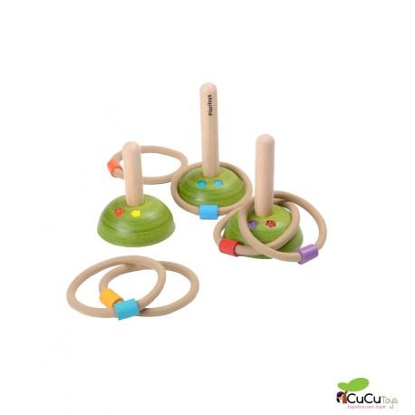 Plantoys - Lanzamiento de anillos, juguete ecológico