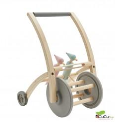 PlanToys - Correpasillos-Andador con pájaros y bloques de madera