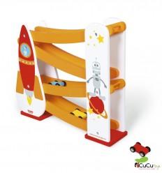 Scratch - Circuito de coches Espacial, juguete de madera