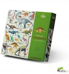 Crocodile Creek - El mundo de los dinosaurios, puzzle de 750 piezas