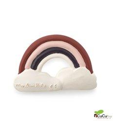 Moulin Roty - Mordedor de caucho natural en forma de Arco Iris - Después de la lluvia - Cucutoys