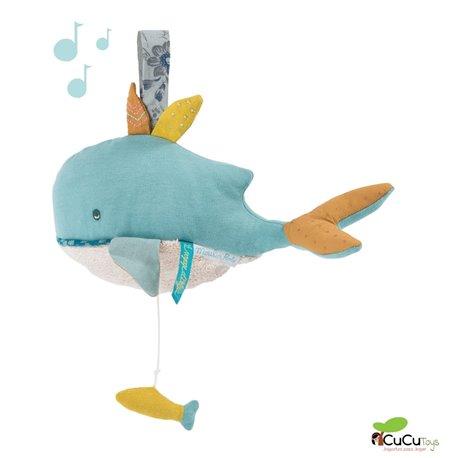 Moulin Roty - Muñeco musical ballena - El viaje de Olga