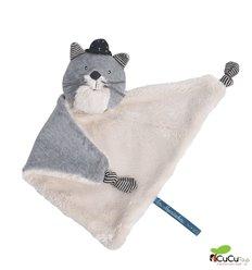 Moulin Roty - Doudou gato gris clarito - Les Moustaches
