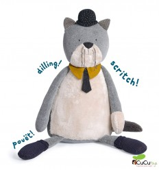 Moulin Roty - Fernand the giant cat - 75cm Les Moustaches