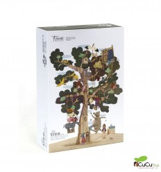 Londji - My Tree, Shape & reversible 50 pz puzzle - Cucutoys