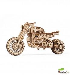 UGears - Moto scrambler UGR-10 con sidecar, kit de madera 3D