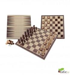 Aquamarine Games - Pack Ajedrez Damas y Backgammon