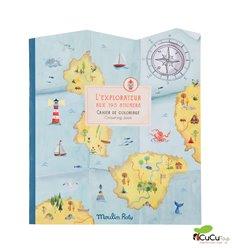 Moulin Roty - Cuaderno de pegatinas El Explorador