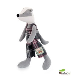 Moulin Roty - Victor the badger, stuffed animal - La Grande Famille