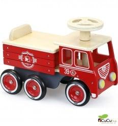 Vilac - Correpasillos Coche de bomberos, juguete clásico