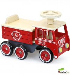 Vilac - Fire engine ride-on, classic toy