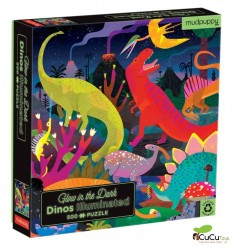Tiger Tribe - Dinos, 500 pz Glow in the dark Puzzle