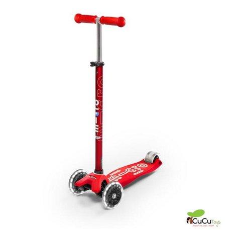 Micro - Patinete Maxi Deluxe Led Rojo