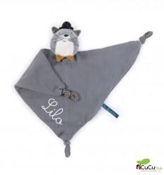 Moulin Roty - Doudou mantita gato gris clarito - Les Moustaches