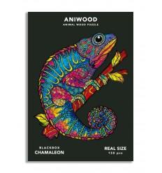 Aniwood - Puzzle de madera Camaleón de 150 piezas