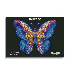 Aniwood - Puzzle de madera Mariposa de 100 piezas