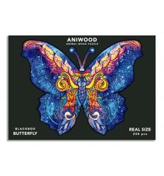Aniwood - Puzzle de madera Mariposa de 200 piezas